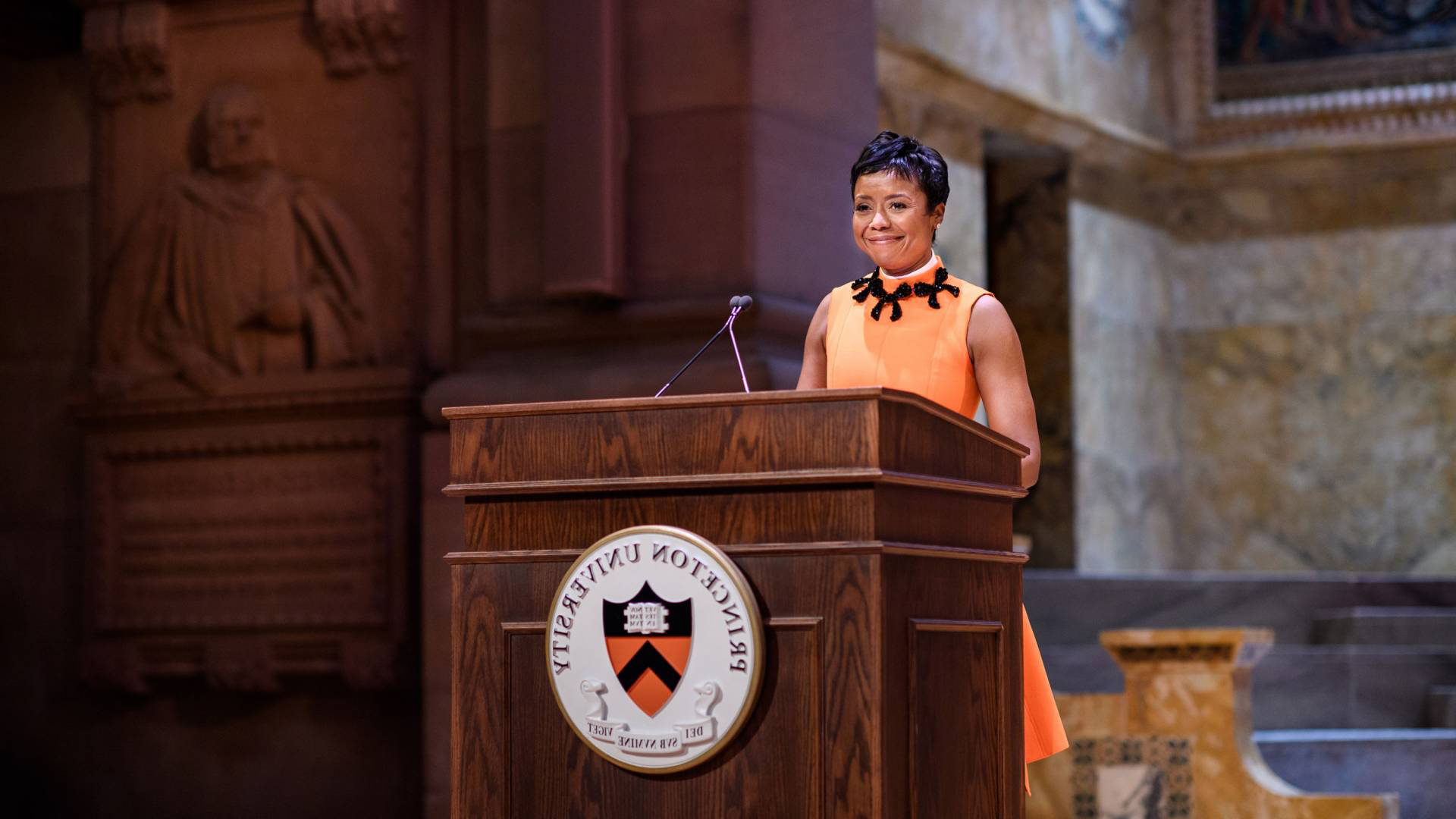 Mellody Hobson at a podium