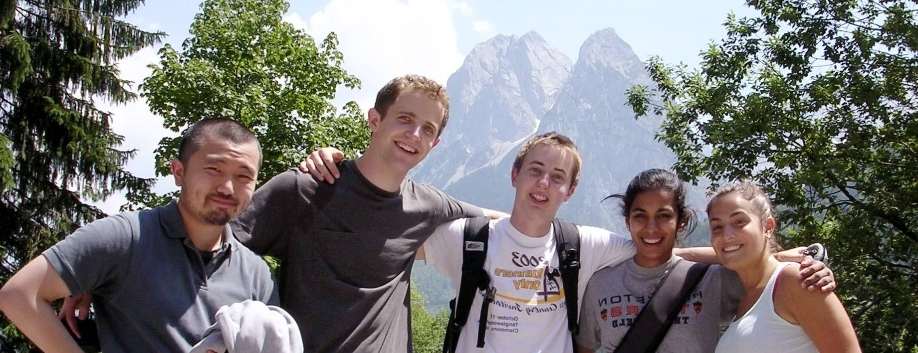 Princeton-in-Munich students in the Alps